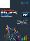 Hiring in India slips to -4% as Banking, Manufacturing  sectors slump in Q3,2012