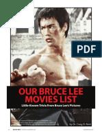 Bruce Lee Movies List