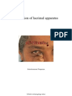 Examination of lacrimal apparatus