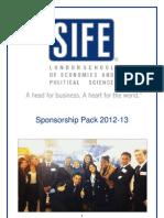 SIFE LSE Sponsorship Pack 2012