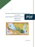 sistematización bases de datos población migrante frontera Sur de Nicaragua