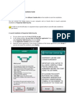 Kaspersky Tablet Security Installation Guide