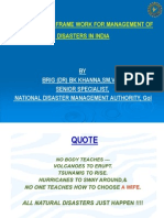 Institutional Framework for Mgmt of Disasters in India