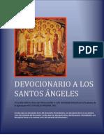 DEVOCIONARIO A LOS SANTOS ÁNGELES