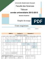 Les Emplois Des Temps Des Cours Magistraux (Version 15 Septembre).