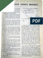 Parish Magazine of Christ Church Southgate - 1890-92