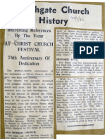 Report on the 74th Anniversary of Christ Church Southgate