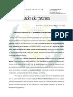 Nota de Prensa 16.09