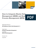 BPM MDM Integration