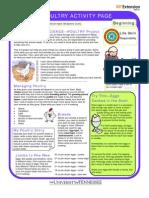 TN 4H Poultry Activity Sheet