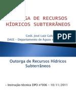 CURSO SOBRE OUTORGA DE ÁGUAS SUBTERRÂNEAS