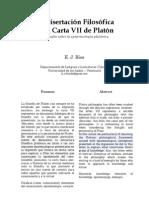 La Disertación Filosófica en la Carta VII de Platón [E.J.Ríos]