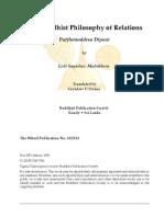 Buddhist Philosophy of Relations, Paṭṭhānuddesa Dīpanī