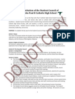 the constitution of the student council of pope john paul ii catholic high school
