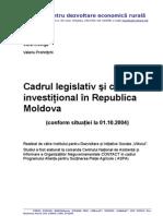 Cadrul Legislativ Si Climatul Investitional in Moldova