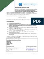 Scholarships Application Form 2012 - Copy