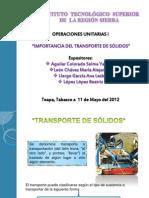 UNI 4 IMPORTANCIA DEL TRANSPORTE DE SÓLIDOS