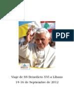 Benedicto Xvi en Libano