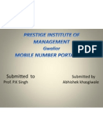 Mobile Number Portability by Abhishek