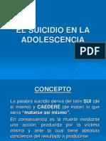 El Suicidio en La Adolescencia