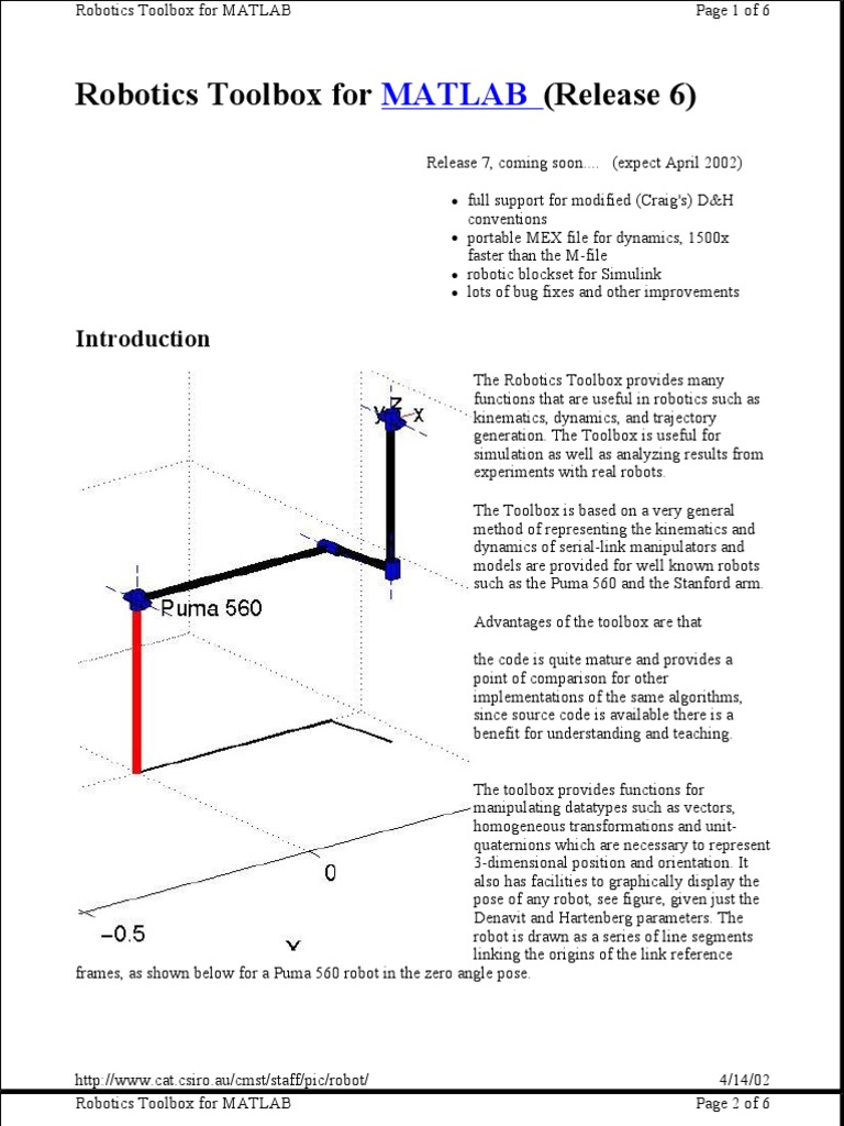 puma 560 inverse kinematics matlab