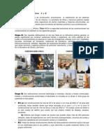 Clasificación de los Edificios    A  y  B