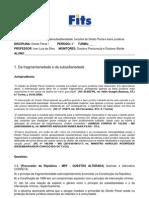 EXERCÍCIO DE FIXAÇÃO 1 (fragmentariedade e subsidiariedade, funções do Direito Penal e bens jurídicos )