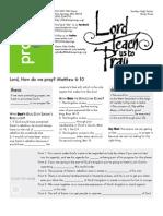 Doctrine of Prayer 4 Mat 6_10 Handout 091612