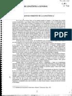 Benveniste Problemas de Linguistica General Ojeada Al Desenvolvimiento de La Linguistica