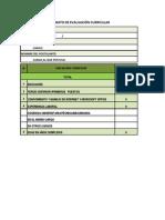 Formato de Evaluación CV