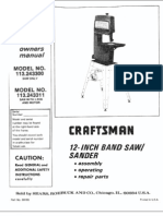 Craftsman 12-Inch Bandsaw Manual