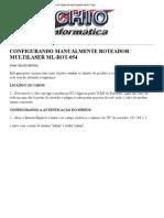 Configurando Roteador Multilaser Ml-rot-054