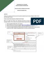 INSTRUCTIVO PARA LA PRUEBA DE APTITUDES PROCESO DE INGRESO 2013 UES