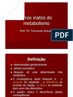 erros inatosmetabolismo