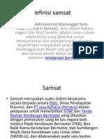 Definisi Samsat + Samsat Online