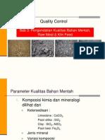 Bab 3 QC Bahan Mentah & KF