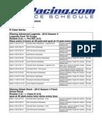 2012 Season 3 Schedule