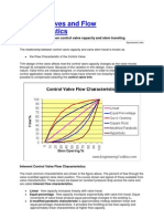 Control Valves and Flow Characteristics
