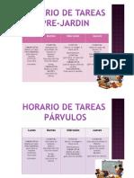 Horario de Tareas Semana Del 17-20