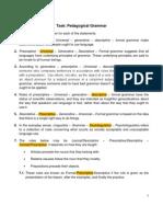 Task - Pedagogical Grammar