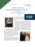 The Italian Memorandum - May 2012 Report