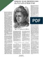 Mme. de Thèbes's War Prophecies (NYT, 21 de Março de 1915)