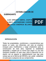 MÉTODOS DE ESTABILIZACIÓN DE SUBRASANTE(1)