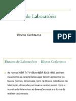 Ensaios de Laboratório-BlocoCeramico