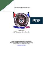 Robo Sprint 2012 Rulebook