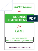 GRE - Reading Comprehension