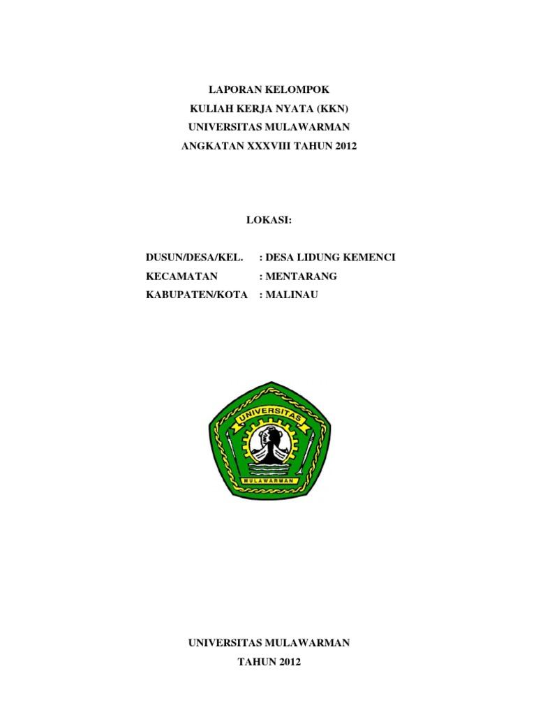 Laporan Kkn Unmul 2012 Desa Lidung Kemenci Kab Malinau