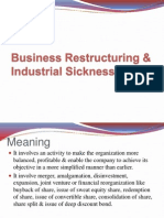 Business Restructuring & Industrial Sickness