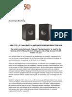 Pressemitteilung X300A Digital HiFi Lautsprechersystem