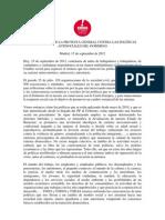15septiembre Manifiesto Cumbres Social UGT